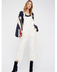 Free People - The Boyfriend Dungaree - Lyst
