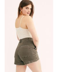 Free People Crvy Day Camp Shorts By We The Free - Multicolour