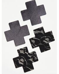 Free People Nippies Basic Cross Adhesives - Black