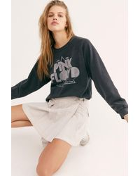Free People Pink Floyd Graphic Pullover By Retro Brand Black Label