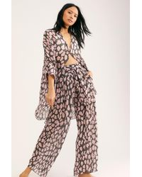 Free People Wake Up Trousers By Intimately - Multicolour