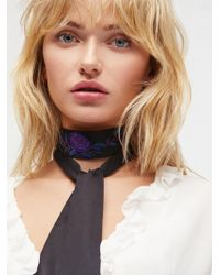 Free People - Kiss By A Rose Skinny Scarf - Lyst