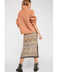 Free People - What You Want Midi Skirt - Lyst