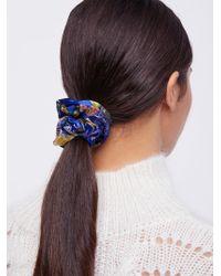 Free People   Silk Brocade Scrunchie   Lyst