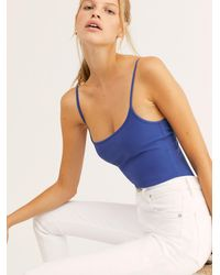 Free People Basique Bodysuit By Intimately - Blue