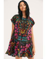 Free People Strawberry Fields Mini Dress - Black