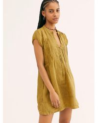 Free People River Linen Stripe Tunic By Cp Shades - Multicolour