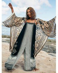 Free People Hazel Mixed Print Jumpsuit - Black