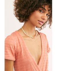 Free People Arroyo Beach Necklace - Pink