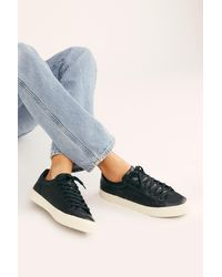 Free People Orchid Ii Snake Sneakers By Gola - Blue
