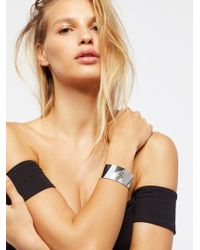 Free People - Patched Leather Cuff - Lyst