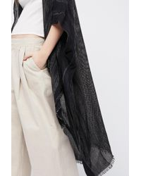 Free People Day Dream Washed Kimono - Black