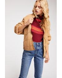 Free People - Dolman Quilted Knit Jacket - Lyst