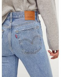 Free People Levi's Wedgie Straight Jeans - Blue