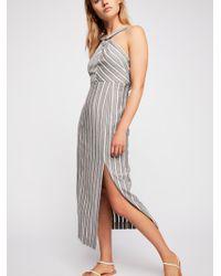 Free People - Let's Flirt Halter Midi Dress - Lyst