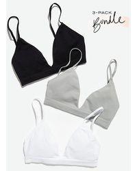 Intimately Baseline Bralette 3-pack Bundle - Black