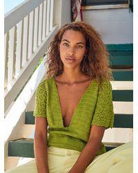 Free People Sugar Magnolia Sweater - Green
