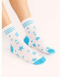 Free People Lucky Honey X Fp Movement Star Dad Socks - Blue