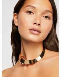 Free People - Swirl Hard Collar Necklace - Lyst