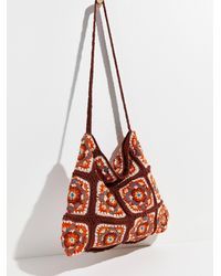 Free People Catch Me Crochet Hobo - Red