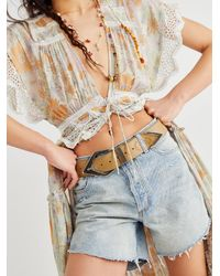 Free People Archer Leather Belt - Natural