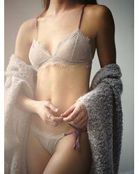 Free People Bedroom Eyes Bralette Bedroom Eyes Tie Bikini - Natural