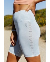 Free People Good Karma Bike Short By Fp Movement - Blue