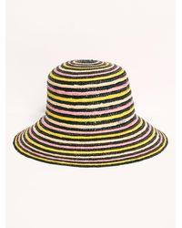 Free People Fiesta Stripe Straw Hat - Multicolour