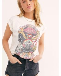 Free People Dreamland Tee By Daydreamer - White
