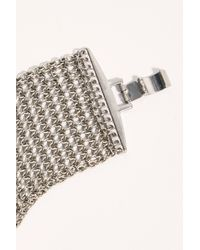 Free People Chainmail Bracelet - Metallic