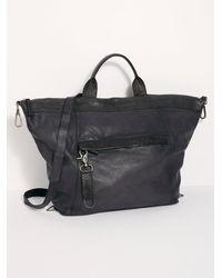 Free People Joey Distressed Convertible Backpack - Black