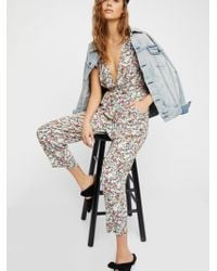Free People | Ruffle Your Feather Printed One Piece | Lyst