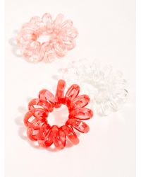 Free People Spiral Out Oversize Coil Hair Ties - Red
