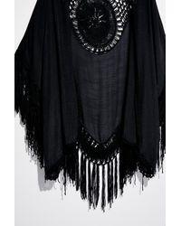 Free People Sundial Crochet Kimono - Black