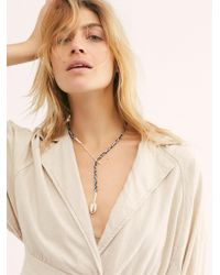 Free People - River Way Beaded Bolo Necklace - Lyst
