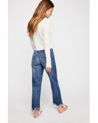 Free People Maggie Mid-rise Straight-leg Jeans By We The Free - Blue