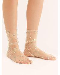 Free People Spring Fling Sheer Socks By High Heel Jungle - Multicolour