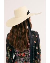 Free People Serena Oversized Straw Hat By Van Palma - Natural