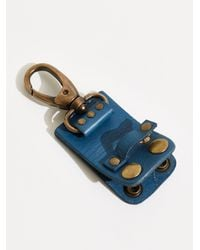 Free People We The Free Snapped Keyring - Blue