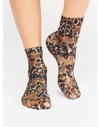Free People - Extra Smitten Lace Crew Sock By Look From London - Lyst