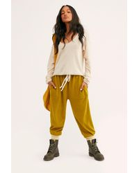 Free People Slouch Jogger By Intimately - Yellow