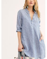 Free People Jasmine Tunic By Cp Shades - Blue
