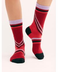 Free People - Lulu Cashmere Blend Socks By Hysteria By Happy Socks - Lyst