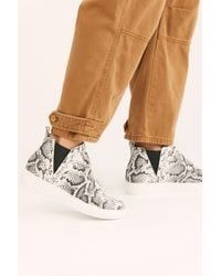 Free People Master Hi Top Trainers - White