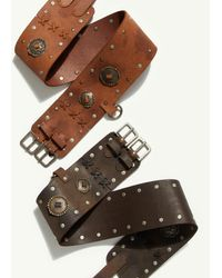 Free People Gilded Double Buckle Belt - Multicolor
