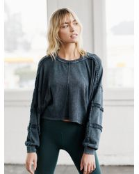 Free People Magnolia Long Sleeve By Fp Movement - Black