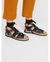 Free People - Tabi Tie Sandal - Lyst