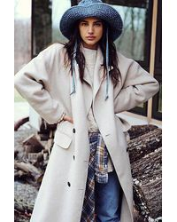 Free People Adore You Wool Coat - Natural