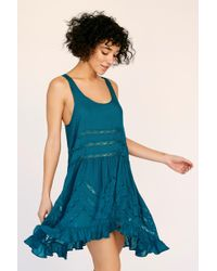 5de13b0b560a Free People - Voile And Lace Trapeze Slip By Intimately - Lyst