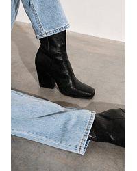 Seychelles Skylar Square Toe Ankle Boots - Black